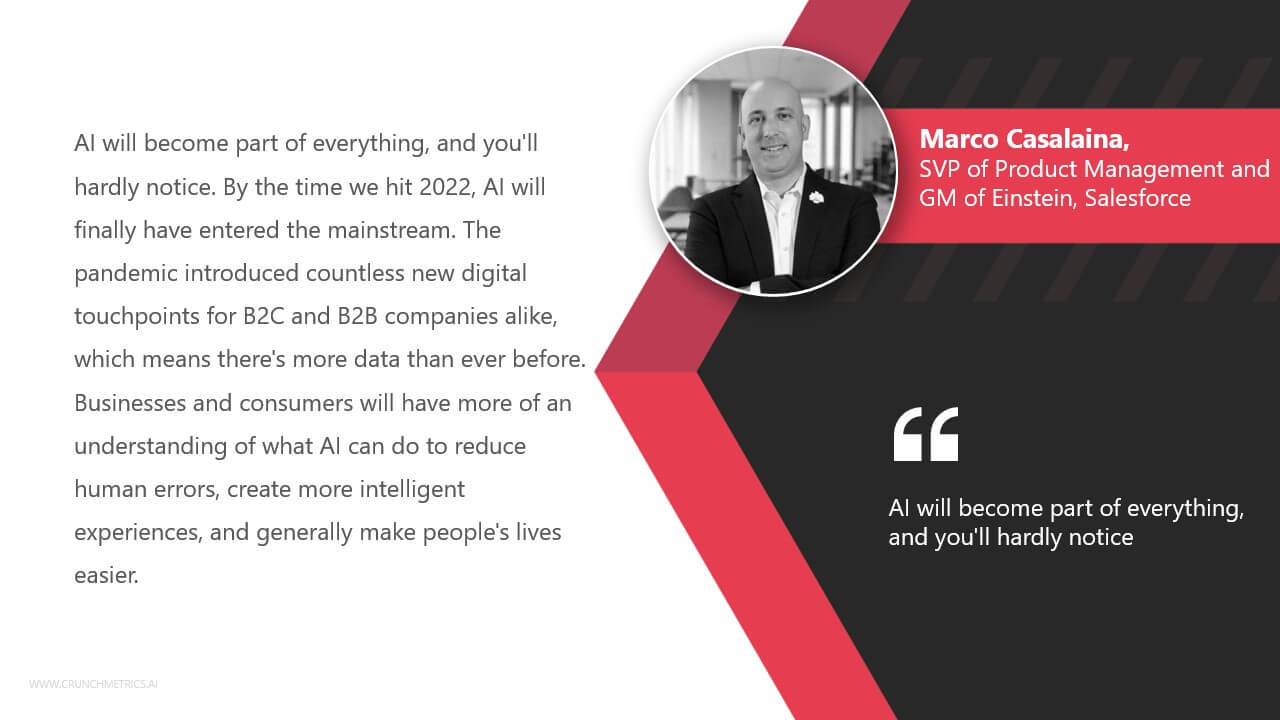 MarcoCasalaina, SVP of Product Management and GM of Einstein, Salesforce