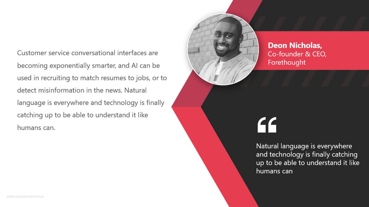 Deon Nicholas, Co-founder and CEO of Forethought